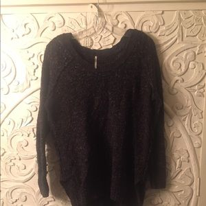 Free people small sweater dark grey